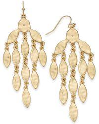 Style & Co. Gold-tone Chandelier Earrings, Created For Macy's - Metallic