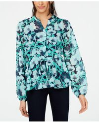 277d2d31 Maison Jules - Printed Tie-waist Shirt, Created For Macy's - Lyst