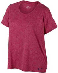 c61df393f666 Lyst - Nike Woman s Dry Legend Training T-shirt in Pink