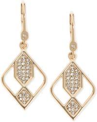 Ivanka Trump Crystal Drop Earrings - Multicolour