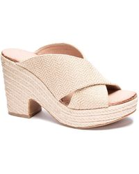 Chinese Laundry Quay Wedge Mules - Natural