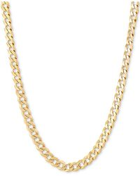 """Giani Bernini Flat Curb Link 22"""" Chain Necklace In 18k Gold-plated Sterling Silver - Metallic"""