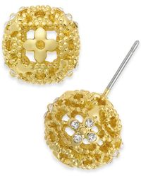 Charter Club - Crystal Filigree Stud Earrings, Created For Macy's - Lyst