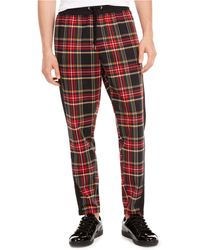 INC International Concepts Alerion Plaid Pants, Created For Macy's - Red
