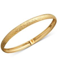 Macy's | Textured Bangle Bracelet In 14k Gold | Lyst