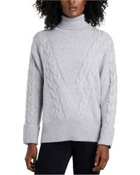 Vince Camuto - Cable Stitch Turtleneck Sweater - Lyst