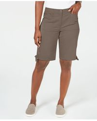 Karen Scott Solid Tie-cuff Shorts, Created For Macy's - Multicolor