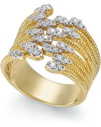 Macy's - Diamond Statement Ring (1/3 Ct. T.w.) In 14k Gold - Lyst