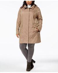 Cole Haan - Plus Size Packable Unlined Raincoat - Lyst