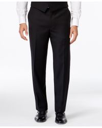 Lauren by Ralph Lauren - Black Solid Classic-fit Dress Pants - Lyst