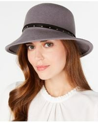 Nine West Wool Felt Trench Hat - Gray