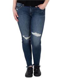 Silver Jeans Co. Plus Size Distressed Suki Jeans - Blue