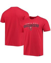 47 Brand Red Tampa Bay Buccaneers Traction Super Rival T-shirt