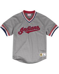 Mitchell & Ness - Cleveland Indians Mesh V-neck Jersey - Lyst