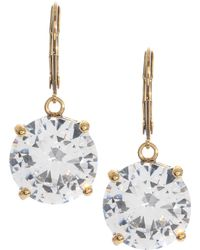Betsey Johnson - Circle Crystal Drop Earrings - Lyst