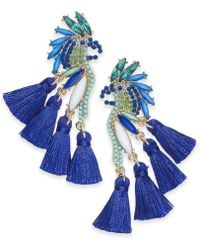 INC International Concepts - I.n.c. Gold-tone Mixed-metal Blue Bird Stud Earrings, Created For Macy's - Lyst