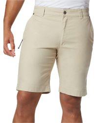 Columbia Big & Tall Flex Roc Stretch Utility Shorts - Natural