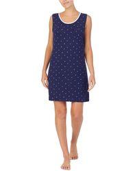 Nautica Printed Sleeveless Nightgown - Blue