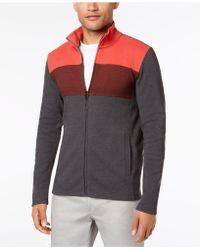 Alfani - Colorblocked Full-zip Sweater Jacket, Created For Macy's - Lyst