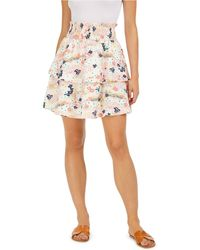 Maison Jules Floral-print Tiered Skirt, Created For Macy's - Multicolor