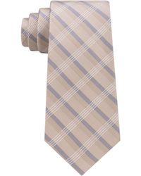 Calvin Klein Crème Plaid Tie - Multicolor