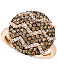 Le Vian - Chocolatier® Diamond Zigzag Ring (9/10 Ct. T.w.) In 14k Rose Gold - Lyst