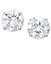 Macy's - Certified Colorless Diamond Stud Earrings In 18k White Gold (1-1/2 Ct. T.w.) - Lyst