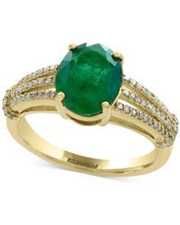 Effy Collection - Emerald (2-1/8 Ct. T.w.) And Diamond (1/5 Ct. T.w.) Ring In 14k Gold - Lyst
