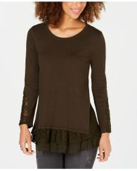 Style & Co. - Petite Lace Hem Tunic Jumper, Created For Macy's - Lyst