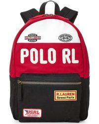 Polo Ralph Lauren Racing Canvas Backpack - Black