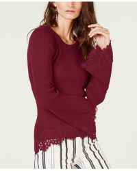 INC International Concepts - I.n.c. Lace-hem Bell-sleeve Jumper, Created For Macy's - Lyst