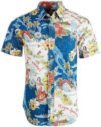 Reyn Spooner - Status Oceanic Printed Shirt - Lyst