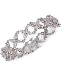 Nina Jojo Floral Marquis Cz Bracelet - Metallic