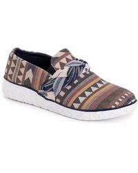 Muk Luks Boardwalk Stroll Sneakers - Natural