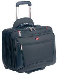 Mancini Biztech Collection Wheeled Laptop/ Tablet Briefcase - Black