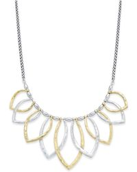 Lucky Brand - Two-tone Petal Statement Necklace - Lyst