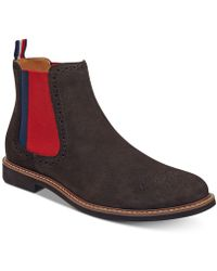 Tommy Hilfiger - Gainer Suede Chelsea Boots - Lyst