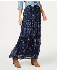 Style & Co. - Tiered Printed Maxi Skirt, Created For Macy's - Lyst