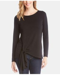 Karen Kane - Tie-front Long-sleeve Sweater, Created For Macy's - Lyst
