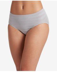 Jockey Seamfree Matte And Shine Hi-cut Underwear 1306, Extended Sizes - Gray