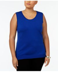 August Silk - Plus Size Sleeveless Shell - Lyst