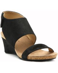 9287f3a1314 Lyst - Cole Haan Giselle Mid Espadrille Sandal Ii Wedge in Black ...