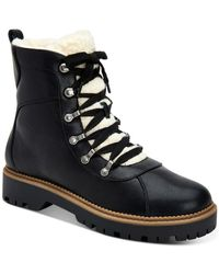 Style & Co. Morggan Lace-up Combat Booties, Created For Macy's - Black