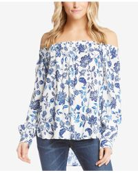 Karen Kane - Off-the-shoulder Printed Top - Lyst