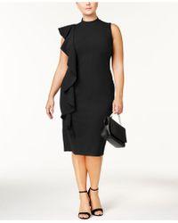 Almost Famous - Trendy Plus Size Ruffled Sheath Dress - Lyst