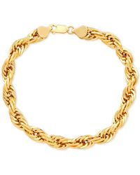 Macy's Rope Link Chain Bracelet In 10k Gold - Metallic