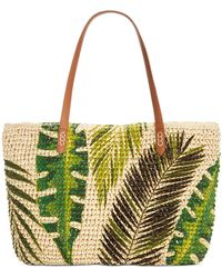 INC International Concepts Inc Tropical Straw Tote, Created For Macy's - Multicolor