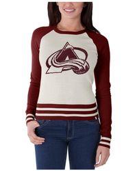47 Brand - Women's Colorado Avalanche Passblock Sweater - Lyst