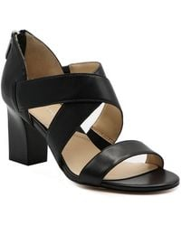 Adrienne Vittadini Rowsey Cross Band Sandals - Black