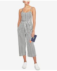 RACHEL Rachel Roy - Sleeveless Striped Cropped Jumpsuit, Created For Macy's - Lyst